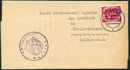 BUND 1951, Nr. 130, BRIEF VOM AMTSGERICHT DORSTEN MIT STPL-KBS, TOPP! - Covers & Documents