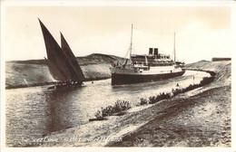 EGYPT Suez Canal At The Curve Of El Guirsh Le Paquebot Théophile Gautier à La Courbe D'El Guirsh - Suez