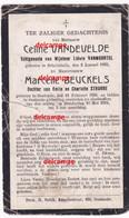 Oorlog Guerre Vandevelde Beuckels Oostende Schellebelle Bombardement Uit Zee Gesneuveld Te Oostende 16 Mei 1918 - Imágenes Religiosas