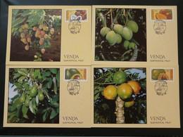 Carte Maximum Card (x4) Fruits Venda Ref 73060 - Fruits