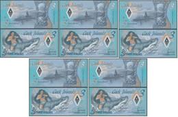 Cook Islands - 5 Pcs X 3 Dollars 2021 UNC Polymer Lemberg-Zp - Cook Islands