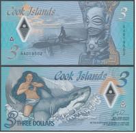 Cook Islands - 3 Dollars 2021 UNC Polymer Lemberg-Zp - Cook Islands