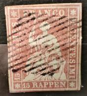 SUISSE - 1854/1862 N° 28 O (voir Scan) - Usati