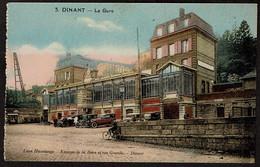 Dinant - La Gare - Edit. Léon Havelange - Kiosque De La Gare Et Rue Grande - Voir Scans - Dinant