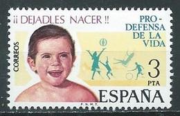 Espagne YT N°1927 Pour La Défense De La Vie Neuf ** - 1971-80 Nuovi