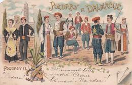 4836  6  Pozdrav Iz Dalmacije  1899  (folds In Three Corners) - Kroatië