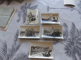 P-351 , Lot De 5 Photos, Mines De Carmaux, Petit Chariot, Wagons, Chargement - Lugares