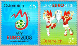 Soccer Football 2008 Austria #2706/7 UEFA European Championship MNH ** - Eurocopa (UEFA)