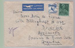 2 Timbres  Helvetia Suisse  Destination  Argentine  Argentina   Luftpost  1946 - Covers & Documents