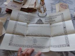 323 - Document Religieux, CONSTANTINUS MISERATIONE DIVINA, Evêché De Rodez, 1868 - Religion & Esotericism