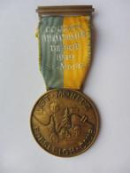MEDAGLIA COURSES INTERNATIONALES DE BOB 1949 ST.MORITZ BOBSLEIGH CLUB HUGUENIN LOCLE SPORT INVERNALE - Wintersport