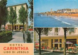 LIDO DI JESOLO-VENEZIA-HOTEL=CARINTHIA=MULTIVEDUTE-CARTOLINA VERA FOTOGRAFIA-VIAGGIATA  IL 17-7-1970 - Venezia (Venice)