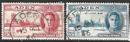Aden  1946  SG  28-9  Victory  Fine Used - Aden (1854-1963)