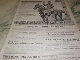 ANCIENNE PUBLICITE TIMBRES REGIMENTAIRES EDITIONS DELANDRE 1916 - Other