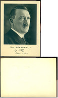 Deutsches Reich 1939 Ansichtskarte Frohe Weihnachten Adolf Hitler Nicht Gelaufen - Personaggi