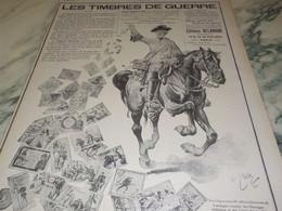 ANCIENNE PUBLICITE LES TIMBRES DE GUERRE  EDITIONS DELANDRE 1916 - Other