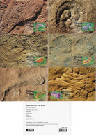 Australia 2005 Complete Series 6 Postal Stationery Maximum Card Prehistoric Animal Fauna Creature Of Slime Invertebrate - Prehistorisch