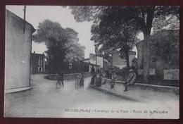CPA  11...  Arzens , ,route De Malapere, Animée - Other Municipalities
