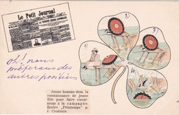 Cartolina  Pubblicitaria Giornale Le Petit Journal Viaggiata 1904 - Advertising