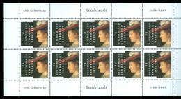 Deutschland Germany Mi. 2550** MNH 400 Geburtstag Rembrandt * 2006 * MNH IN BLOCK Von 10 *  POSTFRIS  (32) - Neufs