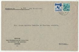 Suisse // 1940-1949 // Lettre Pour Martigny Au Départ De Ardon Le 24.12.1941 - Covers & Documents