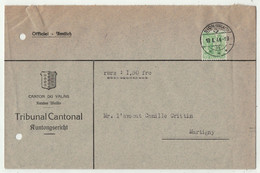Suisse // 1940-1949 // Lettre Pour Martigny Au Départ De Sion Le 19.01.1944 - Covers & Documents