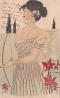 Bella Cartolina Illustrata Viaggiata Nel 1904 Da La Varenne - Paris - Donna Con Arco E Freccia - 1900-1949