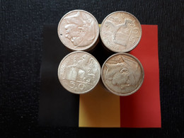 BELGIQUE BELGIE LOT 1 KILO 250GR  100 PIECES DE 50 FR ARGENT - Lots & Kiloware - Coins