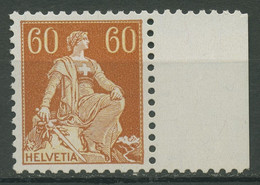 Schweiz 1940 Sitzende Helvetia Gestr. Faserpap., Glatter Gummi 140 Y Postfrisch - Unused Stamps