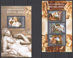 CA326 2015 CENTRAL AFRICA CENTRAFRICAINE ART 540TH ANNIVERSARY MICHEL-ANGE MICHELANGELO KB+BL MNH - Other