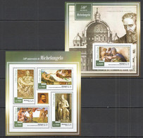 ST1465 2015 S. TOME E PRINCIPE 540TH ANNIVERSARY OF MICHELANGELO KB+BL MNH - Other