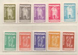 Panama 1964 MiNr.: Z52-Z61 Satz Postfrisch, MNH Scott: RA52- RA61 Yt: 379-388 Sg: 822-831 - Panama