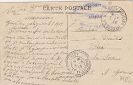 CARTE. MONTREJEAU. 5 5 15. FM. HOPITAL COMPLEMENTAIRE DE GOURDAN-POLIGNAN. Hte-GARONNE. - 1877-1920: Semi-Moderne