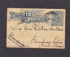 KARTENBRIEF AUS MONTEVIDEO NACH LIMBURG-LAHN,1901. - Uruguay