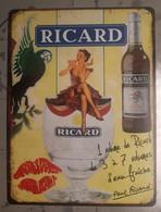 Plaque Métal Ricard Pin-up - Alcohols