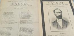 CHANSON SOCIALE  POLITIQUE/ CARNOT L ORGANISATEUR DE LA PAIX/LEO LELIEVRE - Partitions Musicales Anciennes