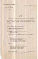 Dépt 77 - VILLE De LAGNY - Oeuvre Des Dames De La Providence - 22 Mai 1911 - Invitation à La Messe De 1ère Communion - Lagny Sur Marne