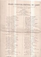 Dépt 77 - GRAND CONCOURS FESTIVAL De LAGNY-SUR-MARNE, 3 Juillet 1887 - Lagny Sur Marne
