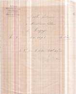 Dépt 77 - MÉNARD, Marchands De Sable Quai Bizeau à LAGNY-SUR-MARNE - Facture à M. BLAQUE, 8 Mai 1892 - Lagny Sur Marne