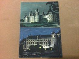 Barré & Dayez, Château De Nuit X 2 Blois Chambord - Altre Illustrazioni