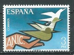 Espagne YT N°2024 Association Nationale Des Invalides Civils Neuf ** - 1971-80 Nuovi