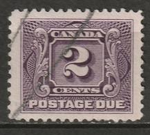Canada 1928 Sc J2c  Postage Due Used Reddish Violet - Portomarken