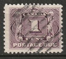 Canada 1906 Sc J1  Postage Due Used - Portomarken