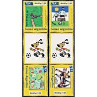 ARGENTINA/STAMPS, 1994 - SOCCER - WORLD CUP USA 94 - GUTTER PAIR - MNH       ------ - 1994 – Estados Unidos