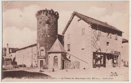 CPA  Le Malzieu Ville  (48)  Place Et Monument Du Souvenir Tour Boudon Marchand De Cartes Postales Ed Bremond Le Puy - Sonstige Gemeinden