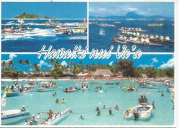 Spectaculaire Course De Pirogue Des Îles Du Vent (Polynésie), Carte Postale Adressée Andorra,avec Timbre à Date Arrivée - Tahiti
