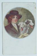 05681 Cartolina Illustrata Monestier - Donna Con Cani - 1916 - Monestier, C.