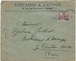 BR42- TUNISIE LETTRE SERVADIO & ABITBOL OCTOBRE 1911 - Storia Postale