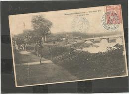 92   Cagou Seul Sur Carte Des Nouvelles-Hébrides Cachet Rare De MOINDOU        (clasverA4) - Lettres & Documents