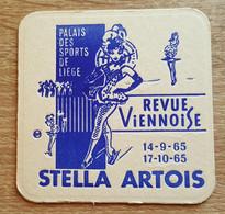VIEUX SOUS BOCKS BRASSERIE ARTOIS LOUVAIN REVUE VIENNOISE LIEGE 1965 - Portavasos